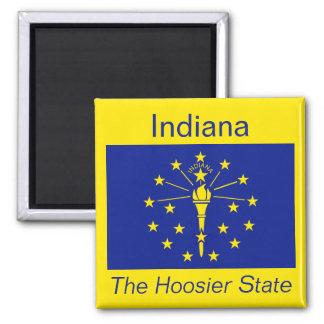 Imán de la bandera de Indiana