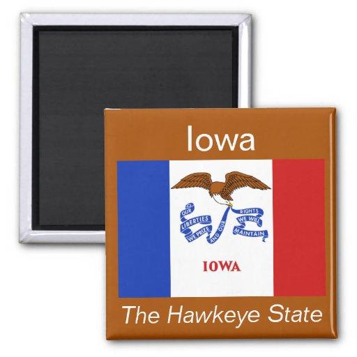 Imán de la bandera de Iowa