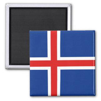 Imán de la bandera de Islandia