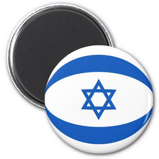 Imán de la bandera de Israel Fisheye