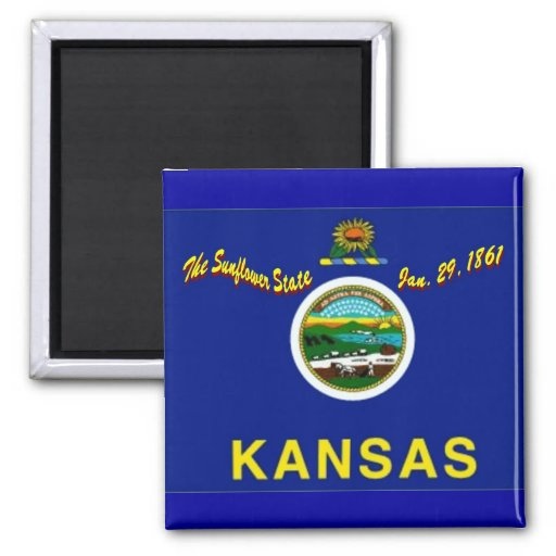 Imán de la bandera de Kansas