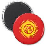Imán de la bandera de Kirguistán