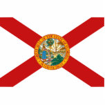 Imán de la bandera de la Florida cortado Escultura Fotográfica