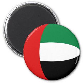 Imán de la bandera de los UAE Fisheye