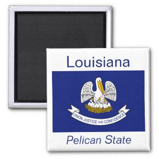 Imán de la bandera de Luisiana