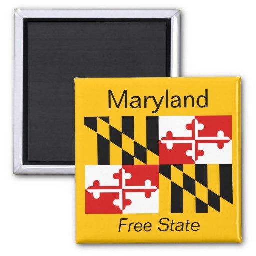 Imán de la bandera de Maryland