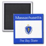 Imán de la bandera de Massachusetts
