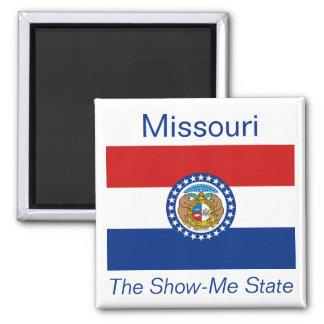 Imán de la bandera de Missouri