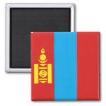 Imán de la bandera de Mongolia
