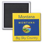 Imán de la bandera de Montana