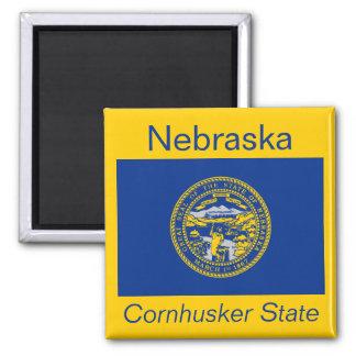 Imán de la bandera de Nebraska