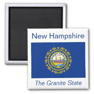 Imán de la bandera de New Hampshire