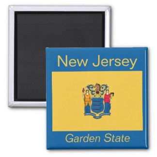 Imán de la bandera de New Jersey
