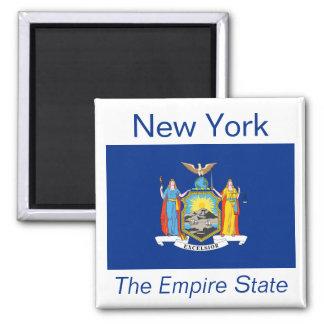 Imán de la bandera de Nueva York