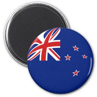 Imán de la bandera de Nueva Zelanda Fisheye