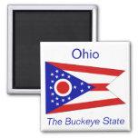Imán de la bandera de Ohio