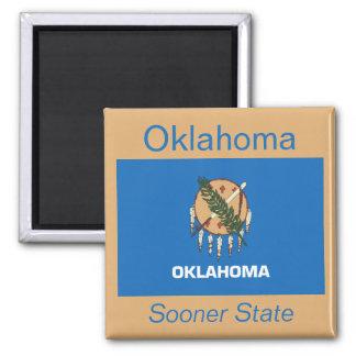 Imán de la bandera de Oklahoma