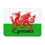 Imán de la bandera de País de Gales