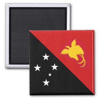 Imán de la bandera de Papúa Nueva Guinea