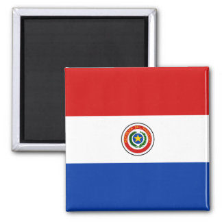 Imán de la bandera de Paraguay