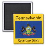 Imán de la bandera de Pennsylvania