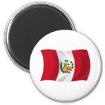 Imán de la bandera de Perú
