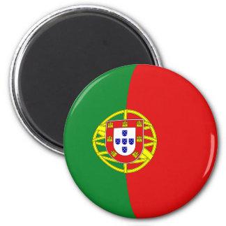 Imán de la bandera de Portugal Fisheye