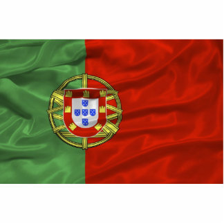 Imán de la bandera de Portugal Imán Fotoescultura