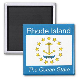 Imán de la bandera de Rhode Island