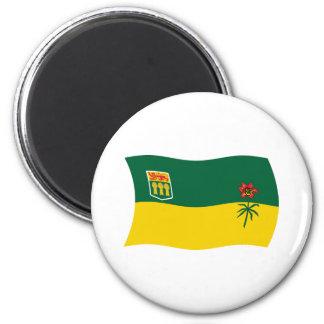 Imán de la bandera de Saskatchewan