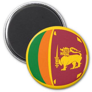 Imán de la bandera de Sri Lanka Fisheye