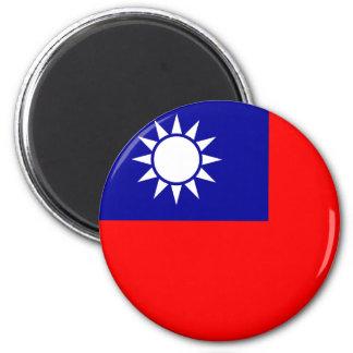 Imán de la bandera de Taiwán