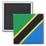 Imán de la bandera de Tanzania