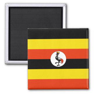 Imán de la bandera de Uganda