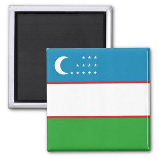 Imán de la bandera de Uzbekistán