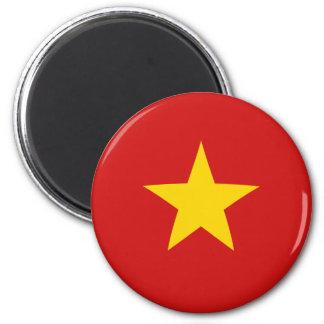 Imán de la bandera de Vietnam Fisheye