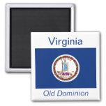 Imán de la bandera de Virginia