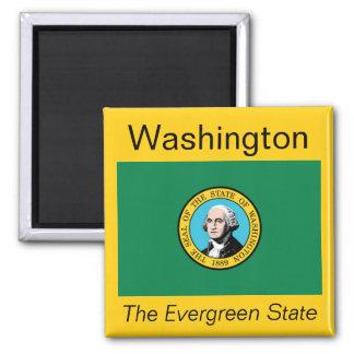Imán de la bandera de Washington