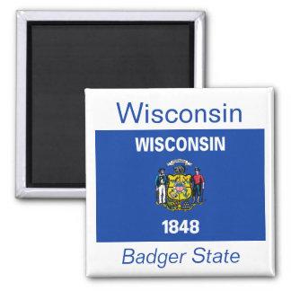 Imán de la bandera de Wisconsin