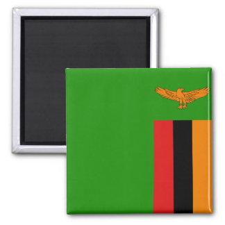 Imán de la bandera de Zambia