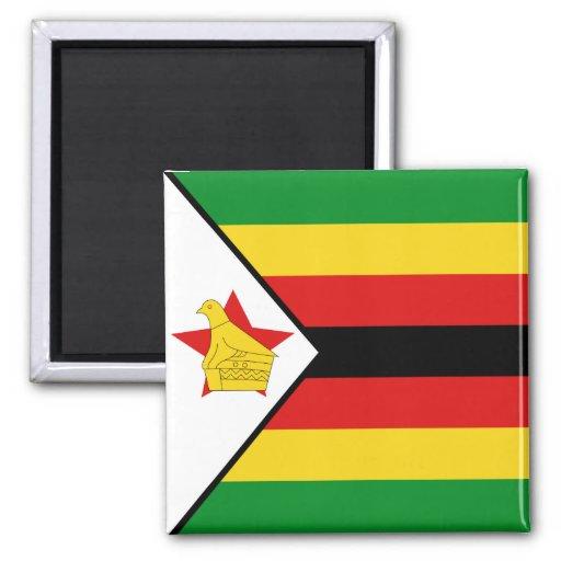 Imán de la bandera de Zimbabwe