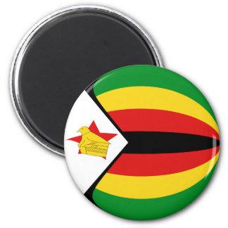 Imán de la bandera de Zimbabwe Fisheye