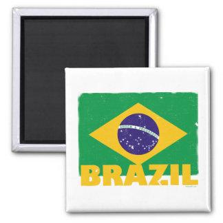 Imán de la bandera del Brasil del vintage