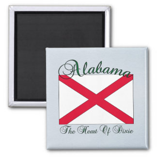 Imán de la bandera del estado de Alabama