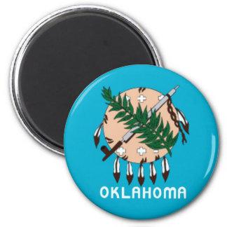 Imán de la bandera del estado de Oklahoma