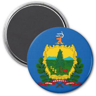 Imán de la bandera del estado de Vermont