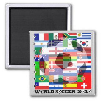 Imán de la bandera del fútbol del mundial