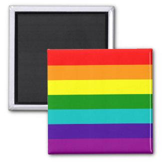 Imán de la bandera del orgullo gay del arco iris d