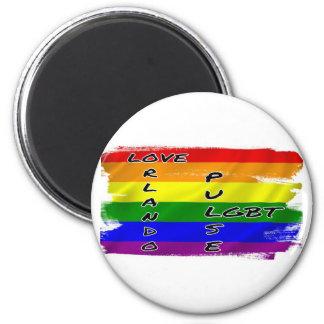 Imán de la bandera del pulso LGBT