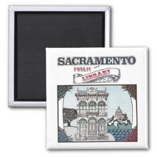 Imán de la biblioteca pública de Sacramento